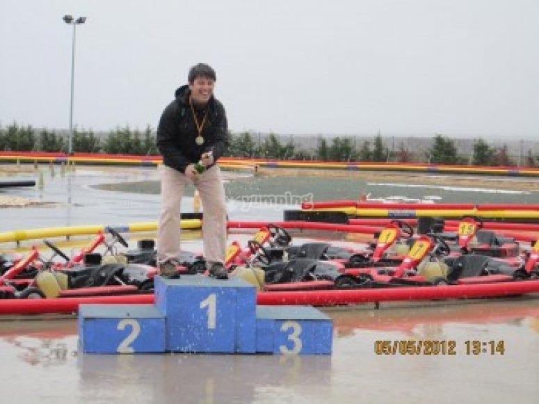 Ganador del Gran Premio de karting