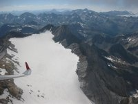 Flying over the Vignemale glacier