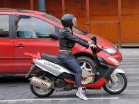 Utilizando la moto en ciudad