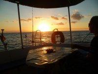 美丽的加那利群岛日落