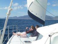 Relax y tranquilidad en la cubierta