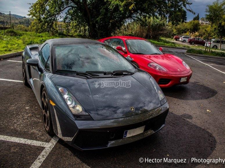 Lamborghini Gallardo en rojo y negro