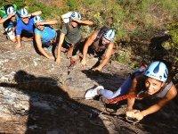 Grupo de via ferrata en Gran Canaria