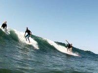 Grupo de surfers