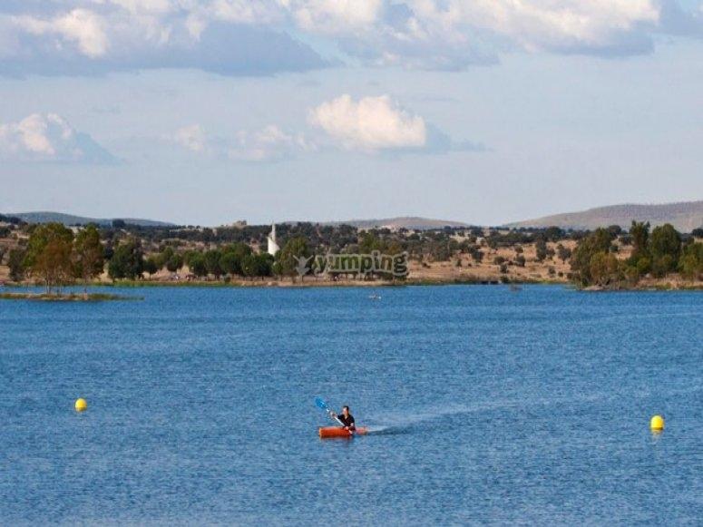 kayak pantano de Proserpina
