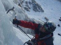 Alpinismo para ascender en el hielo