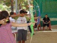 Tiro con l'arco per bambini a Madrid