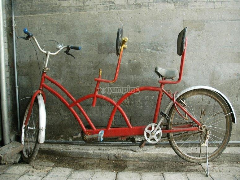 alquiler de bici tandem