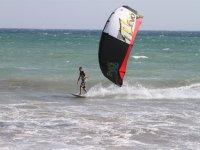 Haciendo kite en Cadiz