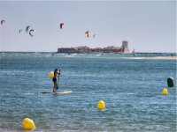 Paddle surf frente a Sancti Petri