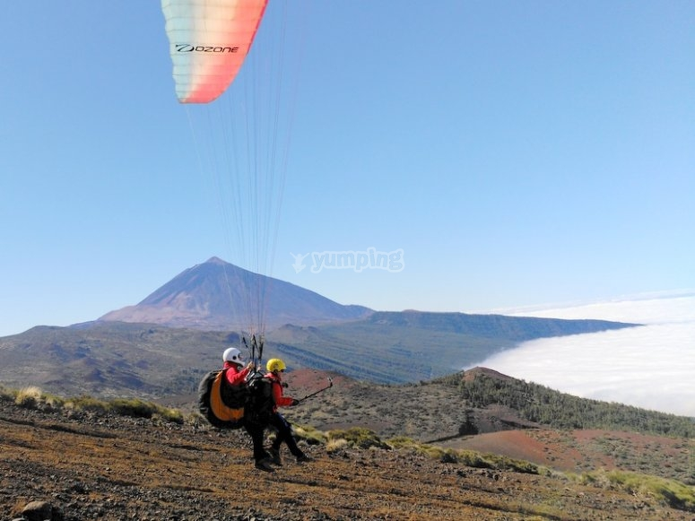 Vuelo con vistas al Teide