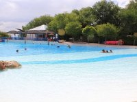 relax in the wave pool