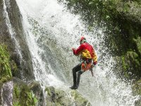 Discesa in corda doppia alla cascata