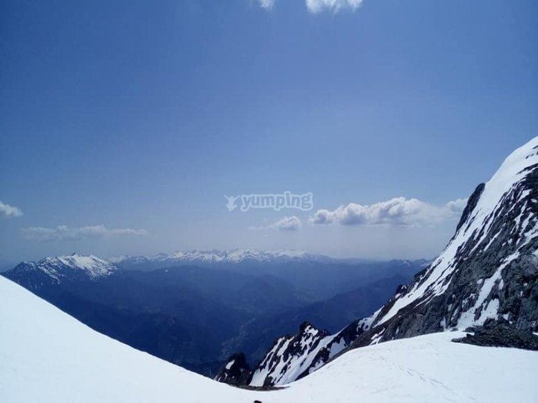 picos de europa desde la cima