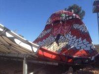 La gran cobra del parque acuatico