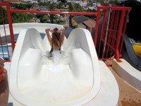 Going down the slide
