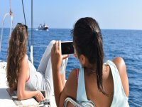 从船上拍摄