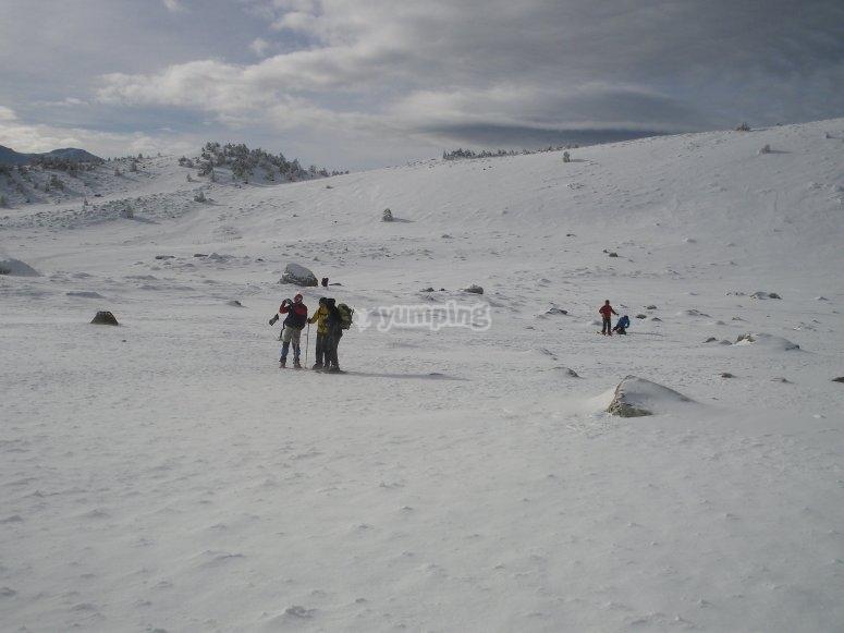 Paseando por la nieve en Sierra Nevada
