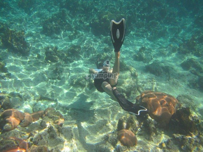 snorkel en Calpe