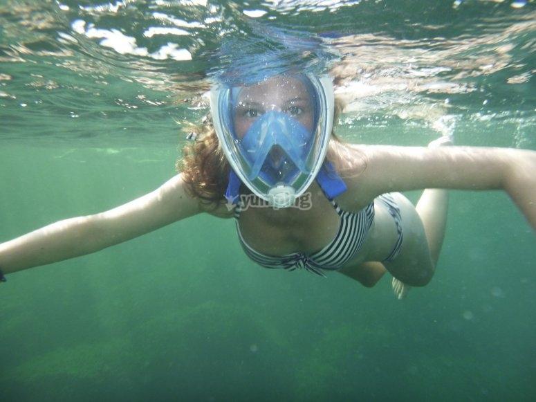 Snorkel en la isla de Tabarca