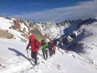 Incredible views practicing snowshoeing