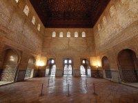 En el interior de la Alhambra