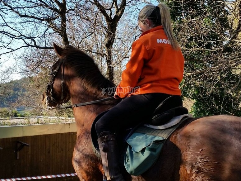 Paseo a caballo en Pardavila