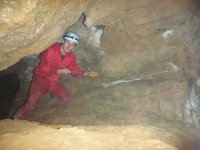 Attraversando la grotta asturiana
