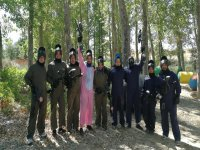 Bachelor party with paintball