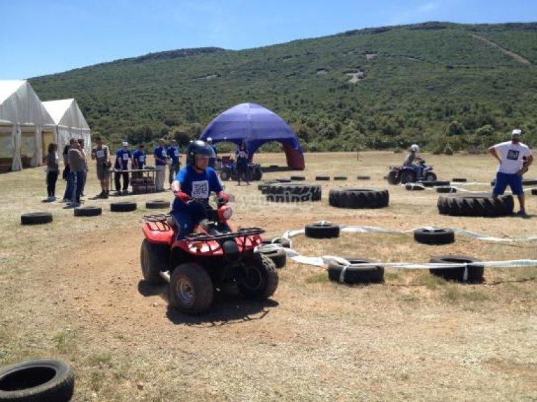 Races in a quads circuit