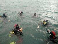 Momentos previos a la inmersión en Vizcaya