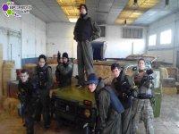 Jugadores en el coche de Sportive War