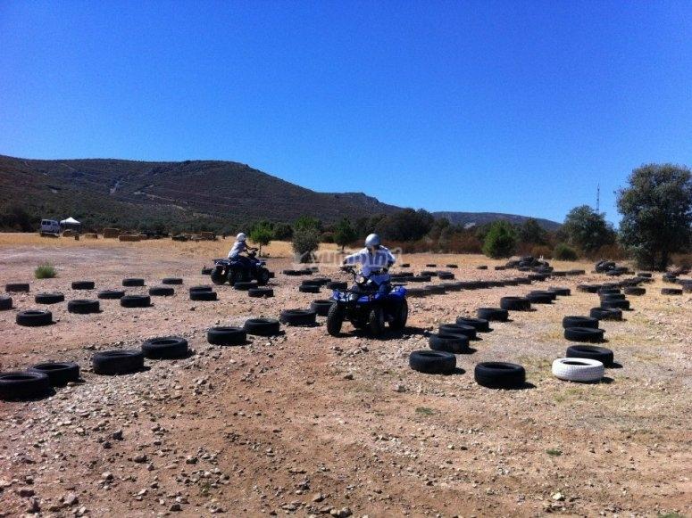 Circuito privato di quad