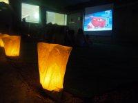 Hora del cine en el campamento