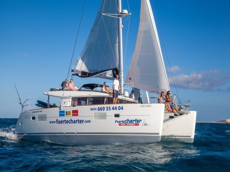 Catamaran navegando