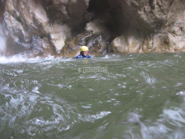 在RíoVerde的峡谷