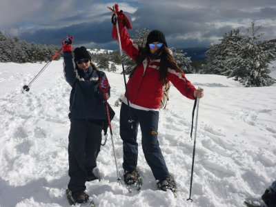 Snowshoeing in Guadarrama for kids