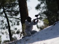 Paintball matches in the snow