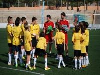 Jugadores con los entrenadores