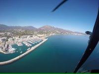 Puerto Banus en helicoptero