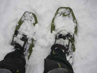 Raquetas de nieve + comida en la sierra de Madrid