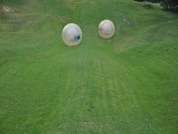 zorbing on the hill