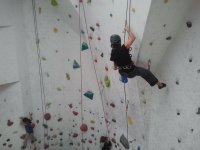 Man on Boulder Zone Climbing Wall