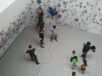 View from the top of our climbing wall
