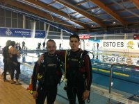 Diving course in confined waters