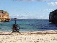 Helicoptero en la playa
