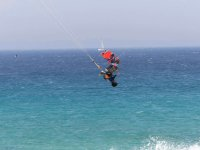 Turning on the kite board