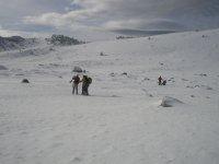森林景色拍照在雪地上准备开始