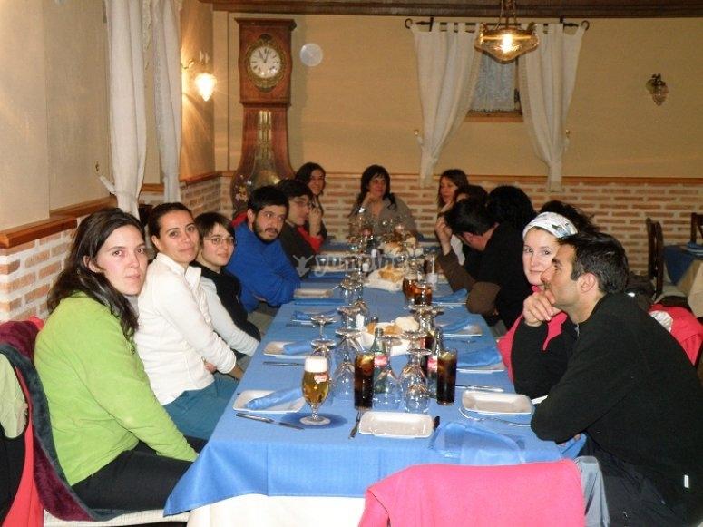 Cena de la Lunada con Raquetas