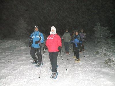 Lunada con raquetas de nieve y cena en Navacerrada